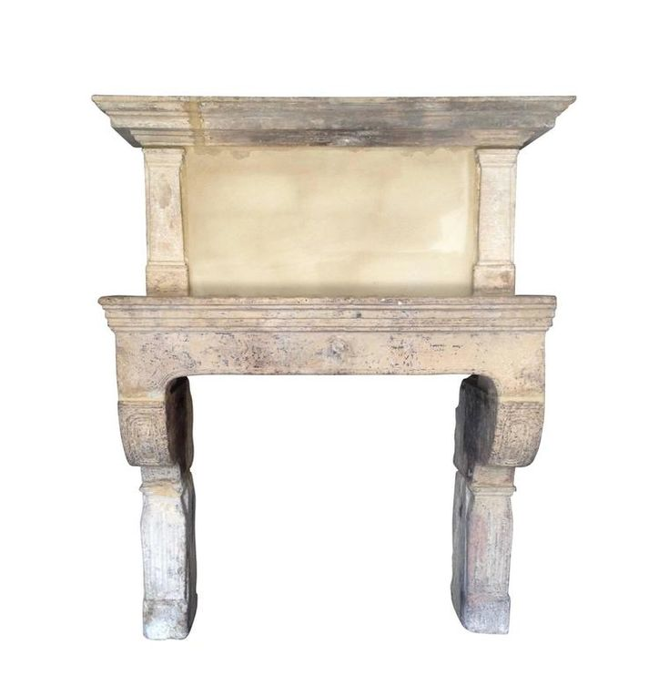 Rare 17th Century French Limestone Fireplace with Trumeau | From a unique collection of antique and modern fireplaces and mantels at https://www.1stdibs.com/furniture/building-garden/fireplaces-mantels/