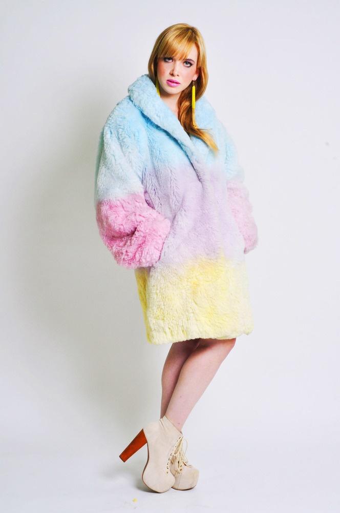 Pastel Fur Coat January 2017