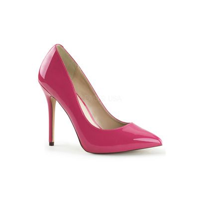 AMUSE 20 Hot Pink Patent Court Shoes 5 Inch Heel ❤ 7