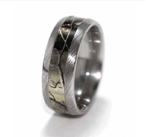 mens ring outdoors | custom camo wedding rings army Custom Camo Wedding Rings Made by Order