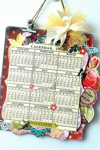 Cute DIY calendar
