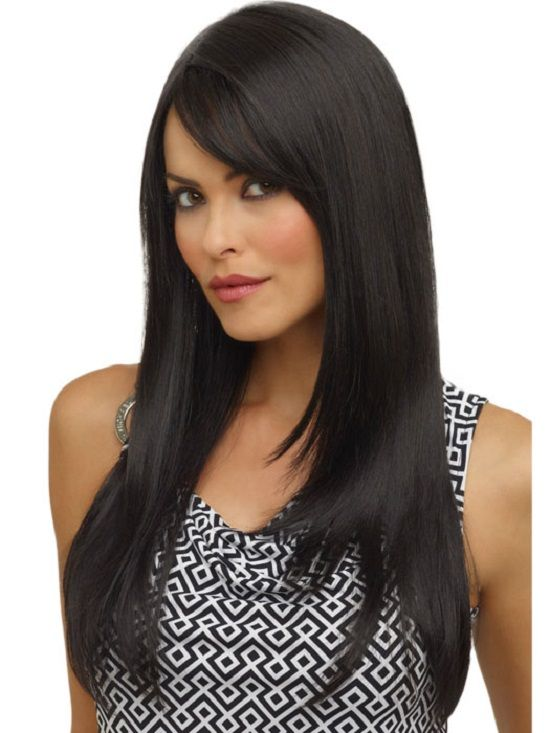 Capelli neri lisci con riga laterale / long straight black hair with side bang.  #capellilunghi #Longhair #hairstyles #taglicapelli2014 http://www.hairstylesfans.com/long-straight-black-hair-with-side-bang.html#.U0ZfveZ_uAE