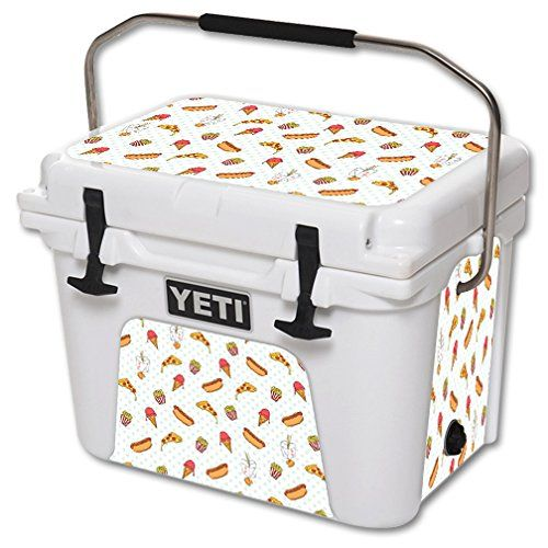 MightySkins Protective Vinyl Skin Decal for YETI Roadie 20 qt Cooler wrap cover sticker skins Food Junkie *** Want to know more, click on the image.(This is an Amazon affiliate link and I receive a commission for the sales)
