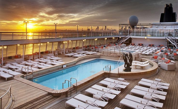 With its ongoing partnership with Michelin-starred chef Nobu Matsuhisa, Crystal Cruises took the crown for the best cruise line for luxury. Pictured is the pool area of Crystal Symphony