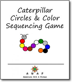 FREE Caterpillar Circles  Color Sequencing Game!
