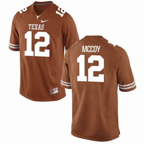 NCAA Texas Longhorns #12 Colt McCoy orange Jersey