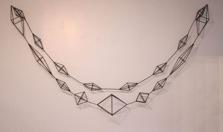 Himmeli Garlands - 9 & 7.5 feet Long - black plastic straw 94 usd | Megin Sherry on Etsy.