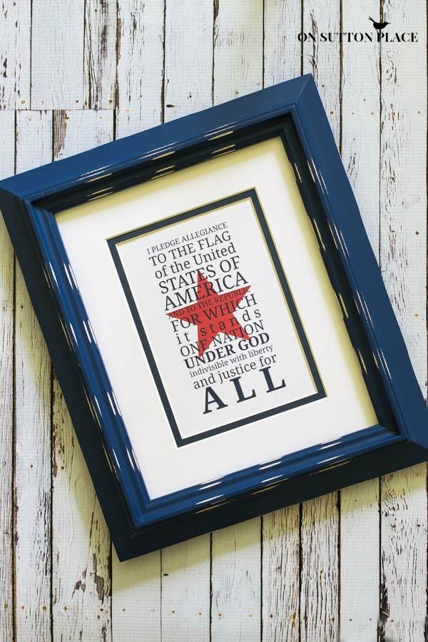 Pledge of Allegiance Free Printable | On Sutton Place