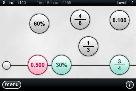 Number Line by Todd Bowden. Appen er gratis go en iPhoen app. Det er gammelt spil, så man skal lige finde ud af, hvordan man gør. Det træner dog fint decimal tal, brøkker mm. Hvordan de skal places på  en tallinje i forhold til hinanden