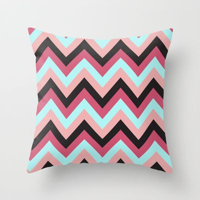 Black Chevron Throw Pillow by Neri Han - $20.00