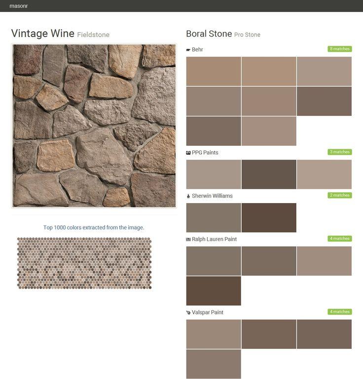 Vintage wine fieldstone pro stone boral stone behr - Sherwin williams exterior textured paint ...