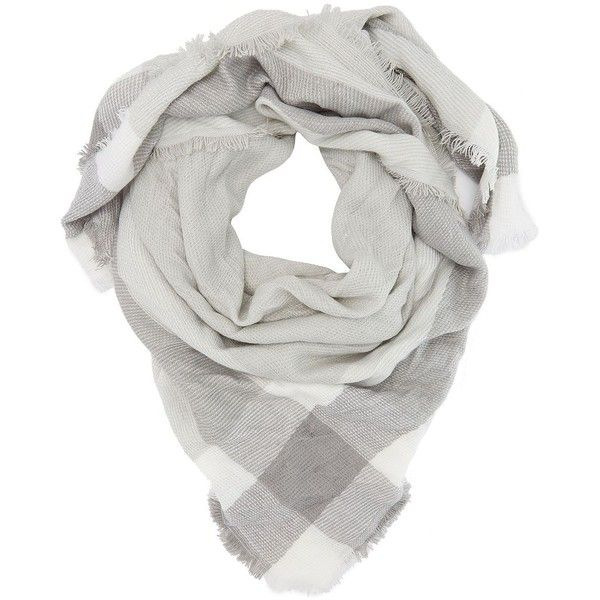 russe gray plaid blanket scarf by