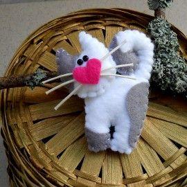 Kotek - broszka z filcu / Kitten - brooch made of felt [TinyArt] -> Zitolo.com