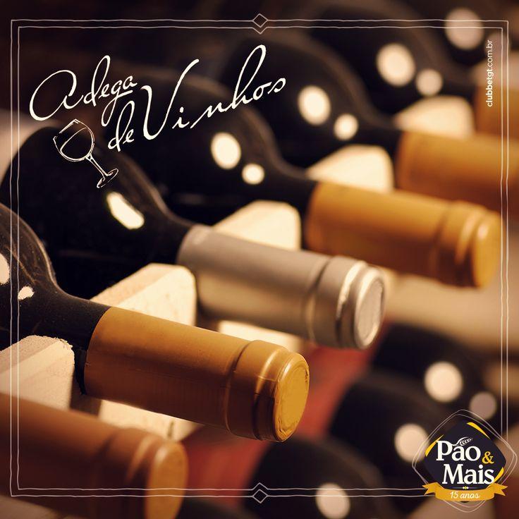 Considerada a bebida sagrada dos deuses, o vinho simboliza o amor e o conhecimento. Aqui na Pão&Mais você encontra as melhores marcas nacionais e importadas. Venha conhecer a nossa adega especial.