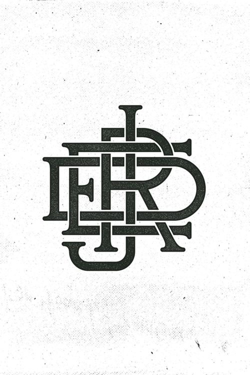 Tattoo Initials Mn: 1000+ Images About Monograms On Pinterest