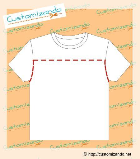 cortes de customização de camiseta                                                                                                                                                      Mais
