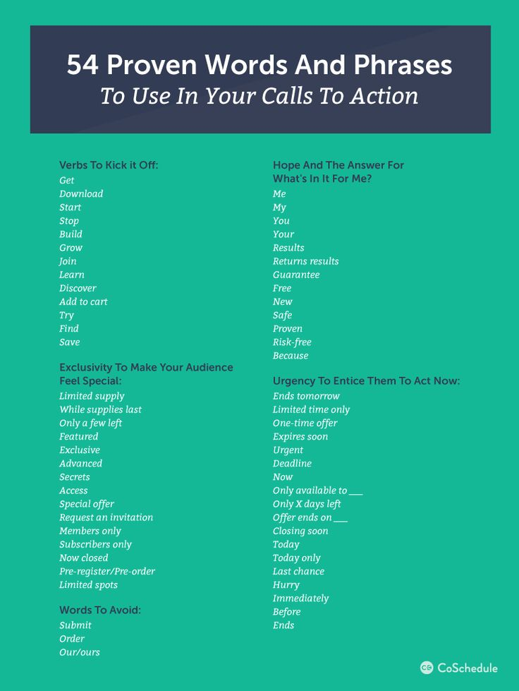 how to write a call to action with 54 words   6 examples