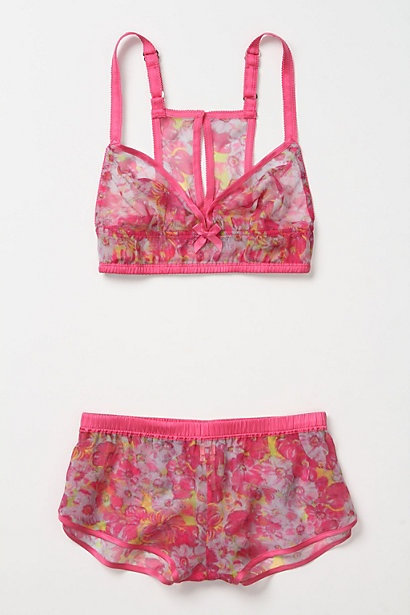 Like the color and the print.: Pink Yellow Lingerie, Floral Prints, Sweet Tangi, Lingerie Sets, Tangi Sets, Anthropologie Com, Good, Lights Blue, Sleep Sets