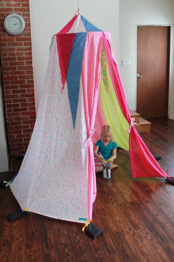 Magical hanging play tent made from upcycled by colouraddiction, $145.00 - I'd totally DIY this instead of buying one but it's cute!