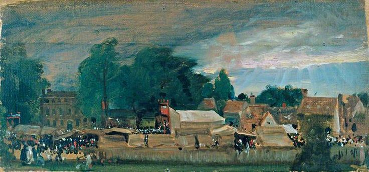 A Village Fair (probably at East Bergholt)  John Constable (1776–1837)