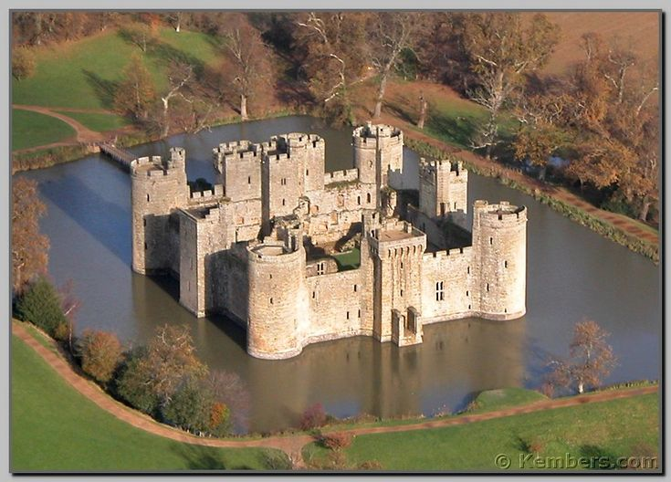 Bodiam Castle - commissioned by Sir Edward Dalyngrigge, a former knight of King Edward III, (1335) in East Sussex, England.