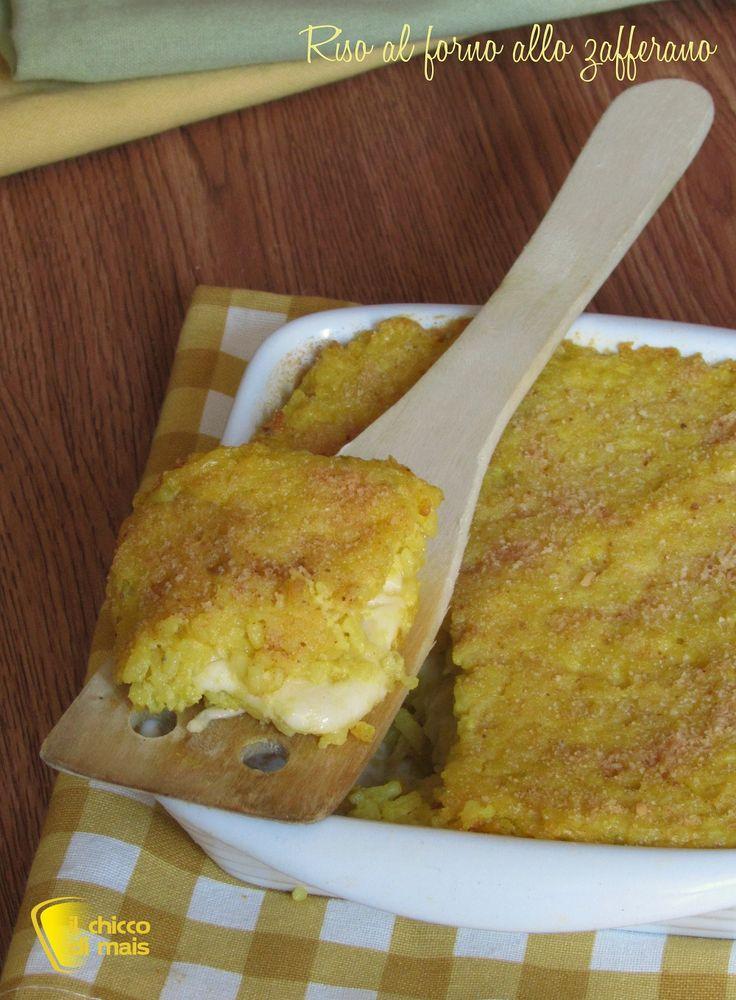 RISO AL FORNO FILANTE ALLO ZAFFERANO - SAFFRON AND CHEESE RICE PIE #riso #risotto #giallo #zafferano #formaggio #scamorza #vegetariano #ricetta #facile #easy #foodporn #rice #saffron #cheese #vegetarian #ilchiccodimais http://blog.giallozafferano.it/ilchiccodimais/riso-al-forno-filante-allo-zafferano/