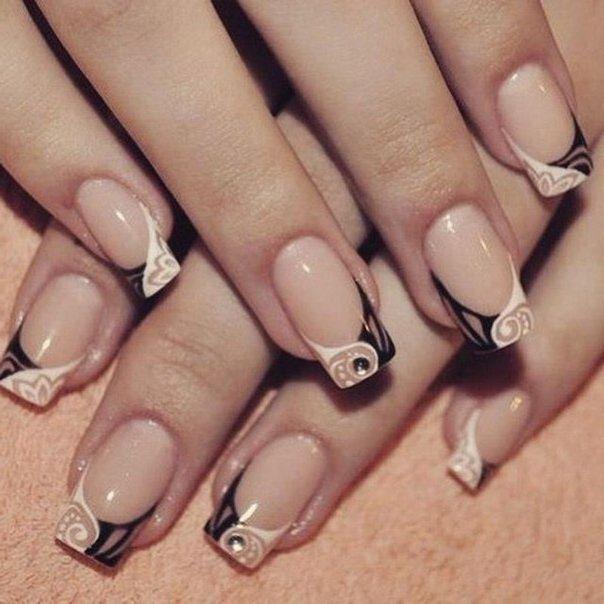 Френч красивый ногти фото
