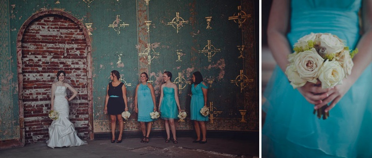 The beautiful bride and her maids with all little help from the Little White Dress Bride & Formal in Lebanon, Ohio.