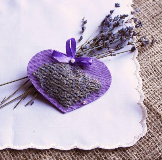Lavender Sachet Heart Sachet Felt Herbal Sachet by MadeinCrimea