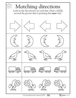 ldentify left and right orientation preschool Worksheets | ... directions: right or left? - Worksheets Activities | GreatSchools