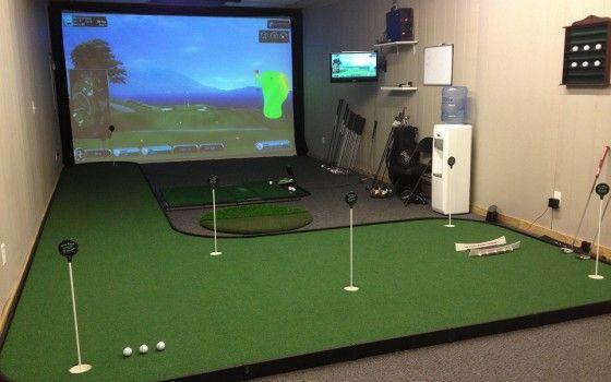 indoor golf simulator room | Golf Room