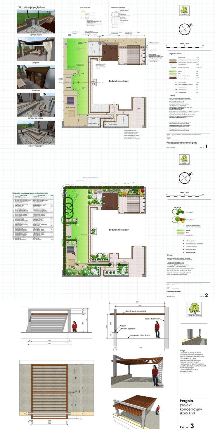 projekt małego ogrodu miejskiego; landscape plan