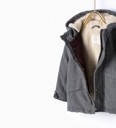 Fleecy three quarter length coat-Coats-Baby boy-Baby | 3 months - 3 years-KIDS | ZARA United States