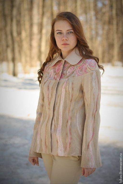 Пиджаки, жакеты ручной работы. Ярмарка Мастеров - ручная работа Розовые мечты. Handmade.