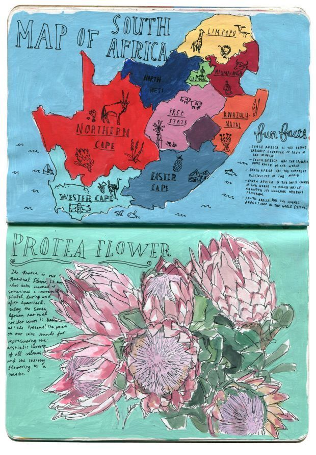 Greetings From South Africa A Sketchbook By Mieke Van Der Merwe