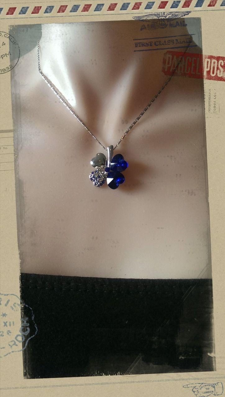 Popsie Ltd - Four leaf Clover Pendant Necklace - Royal Blue, $15.18 (http://www.popsie.co.nz/four-leaf-clover-pendant-necklace-royal-blue/)