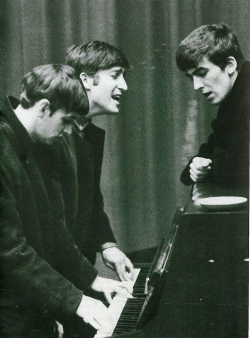 Richard Starkey, John Lennon, and George Harrison