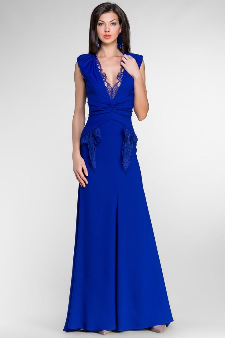красивые длинные синие платья фото вот таком варианте