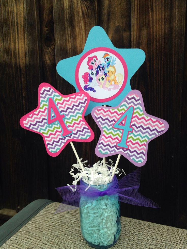 My Little Pony Party Centerpiece | My Lil Pony Birthday Decorations by DoItAllDiva on Etsy https://www.etsy.com/listing/218958558/my-little-pony-party-centerpiece-my-lil