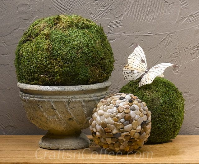 How to make Moss Balls, and 12 more moss crafts   Crafts 'n Coffee