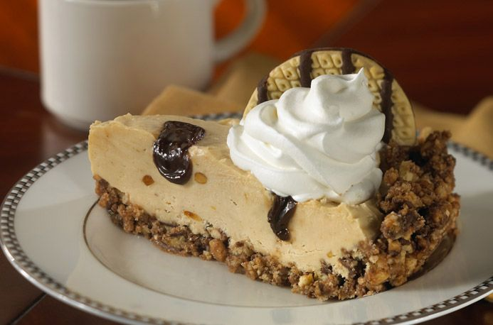 Peanut Butter Pie topped off with Chocolate Ice Cream, Whipped Topping and Keebler® Fudge Stripes™ Original cookies ...yum! #PeanutButter