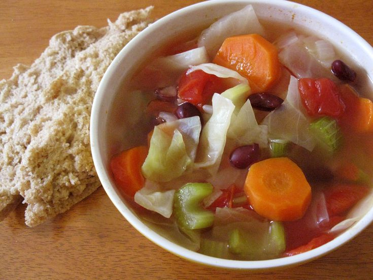 Tomato Cabbage Vegetable Soup