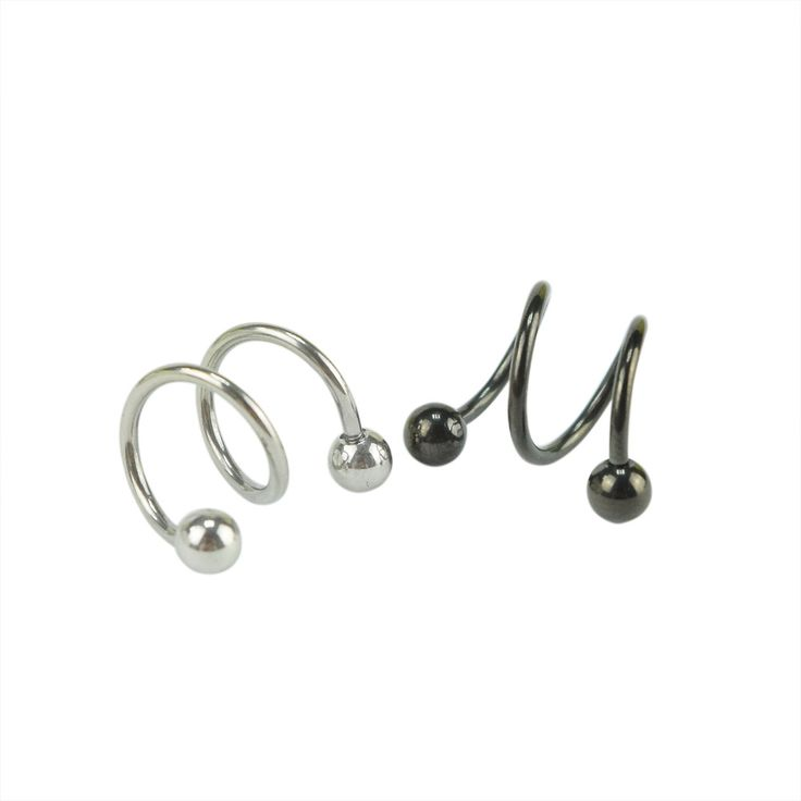Stainless Steel S Shape Earrings Studs Industrial Construction Scaffold Piercing Industrial Construction Body Helix Piercing