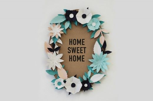 DIY Paper Flower Wreath – Home Sweet Home