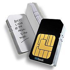 Cuaderno Tarjeta SIM