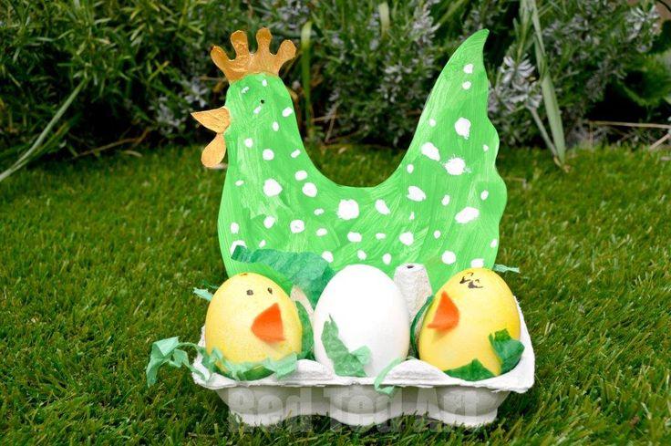 Easter Craft for Preschoolers: Hen & Chick Nest