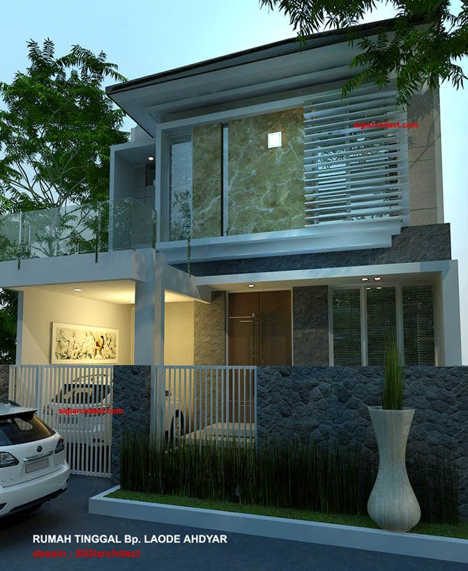 Denah Rumah Minimalis | Model Rumah 2 Lantai. Desain rumah minimalis yang berdiri diatas lahan seluas 19 M X 7.5 M, posisi bangunan berada di tengah site