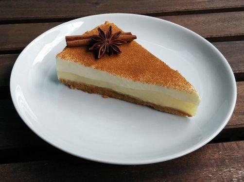 Tarta de queso y crema pastelera para #Mycook http://www.mycook.es/receta/tarta-de-queso-y-crema-pastelera/