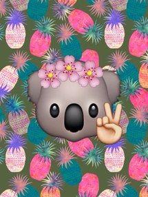 animals, background, emoji, flower, flowers, grunge, hippie, hipster, panda, wallpaper, emojis, emoji wallpaper, emoji background