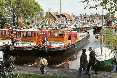 Haven van Broek op Langedijk. Archieffoto uit een onbekend jaar.